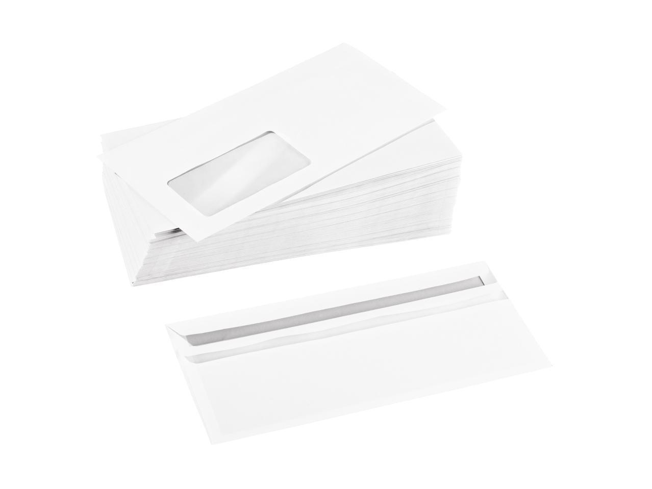 NEW! конверт с окном самоклей 100шт (lidl 3€)